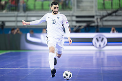 Abdessamad Mohammed of France during futsal match between Spain and France at Day 2 of UEFA Futsal EURO 2018, on January 31, 2018 in Arena Stozice, Ljubljana, Slovenia. Photo by Urban Urbanc / Sportida