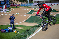 #140 (THERKELSEN Jimmi) DEN at Round 1 of the 2020 UCI BMX Supercross World Cup in Shepparton, Australia