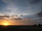 Sri Lanka, Ampara District, Arugam Bay, sunset