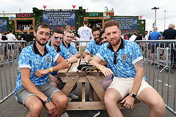 England fans at the fan zone in Trafford Park, Manchester as they watch the UEFA Euro 2020 Group D match between England and Croatia held at Wembley Stadium. Picture date: Sunday June 13, 2021.