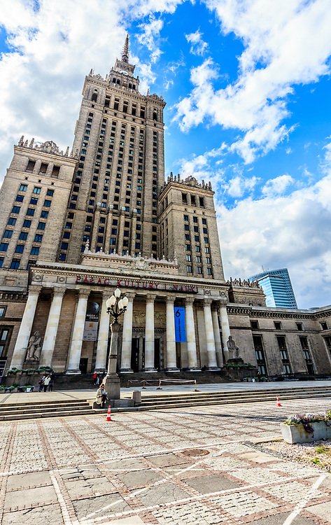 The Palace of Science and Culture in Warsaw, Poland. It was a gift from the Soviet Union to the people of Poland. Many Poles originally hated the building because they regarded it to be a representation of Soviet domination
