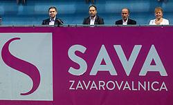 PORTOROZ, SLOVENIA - SEPTEMBER 19: Igor Zorcic, Andrej Slapar, Andrej Krasevec at Singles final during the WTA 250 Zavarovalnica Sava Portoroz at SRC Marina, on September 19, 2021 in Portoroz / Portorose, Slovenia. Photo by Vid Ponikvar / Sportida