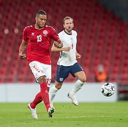 Mathias Zanka Jørgensen (Danmark) under UEFA Nations League kampen mellem Danmark og England den 8. september 2020 i Parken, København (Foto: Claus Birch).