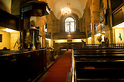 Interior west church Kirk of Saint Nicholas, Aberdeen, Scotland