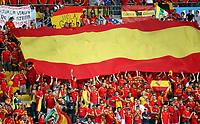 GEPA-2206083442 - WIEN,AUSTRIA,22.JUN.08 - FUSSBALL - UEFA Europameisterschaft, EURO 2008, Spanien vs Italien, ESP vs ITA, Viertelfinale. Bild zeigt Fans von Spanien. Keyword: Fahne.<br />Foto: GEPA pictures/ Markus Oberlaender