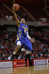 20 February 2010: Terrance Hill out front all alone for a lay up. The Redbirds of Illinois State bust the Eagles of Morehead State in an ESPN Bracketbuster game 71-62 on Doug Collins Court inside Redbird Arena at Normal Illinois.