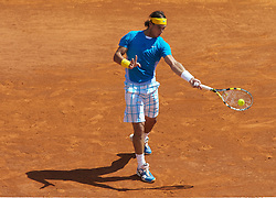 MONTE-CARLO, MONACO - Wednesday, April 14, 2010: Rafael Nadal (ESP) in action during the Men's Singles 2nd Round match on day three of the ATP Masters Series Monte-Carlo at the Monte-Carlo Country Club. (Photo by David Rawcliffe/Propaganda)