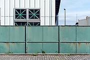 industrial shipyard seen from outside the fence Yokosuka Japan