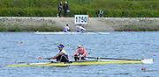 Reading. United Kingdom.  GBR W2-. Monica RELPH and Donna ETIEBET, in the opening strokes of the morning time trial. 2014 Senior GB Rowing Trails, Redgrave and Pinsent Rowing Lake. Caversham.<br /> <br /> 10:45:15  Saturday  19/04/2014<br /> <br />  [Mandatory Credit: Peter Spurrier/Intersport<br /> Images]