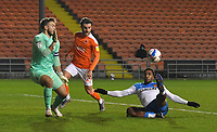 Hull City's Mallik Wilks scores his sides opening goal<br /> <br /> Photographer Dave Howarth/CameraSport<br /> <br /> The EFL Sky Bet League One - Blackpool v Hull City - Tuesday 15th December 2020 - Bloomfield Road - Blackpool<br /> <br /> World Copyright © 2020 CameraSport. All rights reserved. 43 Linden Ave. Countesthorpe. Leicester. England. LE8 5PG - Tel: +44 (0) 116 277 4147 - admin@camerasport.com - www.camerasport.com