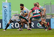 Wasps Back row Sione Vailanu runs into tackle during a Gallagher Premiership Round 10 Rugby Union match, Friday, Feb. 20, 2021, in Leicester, United Kingdom. (Steve Flynn/Image of Sport)