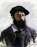 Claude Monet (1840-1926) French Impressionist painter. 'Self-portrait in Beret' 1886