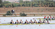 Marathon, GREECE,  Women's eights final, Rom 8+ gold medalist, GBR Silver medalist, Bow COOK, Vicky MYERS, Georgina MENHENEOTT, Emilt TAYLOR,  Racel LOVERIDGE, Kirsty MYLES, Lindsey MAGUIRE, Hannah ELSY,  cox, Rebecca DOWBIGGIN, at the FISA European Rowing Championships.  Lake Schinias Rowing Course, SAT. 20.09.2008  [Mandatory Credit Peter Spurrier/ Intersport Images] , Rowing Course; Lake Schinias Olympic Rowing Course. GREECE
