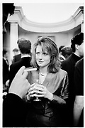 Frances Howell. Virago's Reception. Old Library. Lady Margaret Hall. Oxford. 3 May 1988. SUPPLIED FOR ONE-TIME USE ONLY> DO NOT ARCHIVE. ? Copyright Photograph by Dafydd Jones 248 Clapham Rd.  London SW90PZ Tel 020 7820 0771 www.dafjones.com