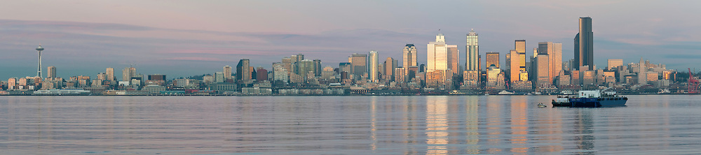 The Seattle skyline, as seen from Seacrest Park, West Seattle.  Photo by William Byrne Drumm.