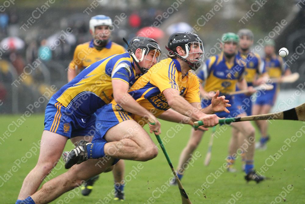 10/11/13   Sixmilebridge's Rory Shanahan keeps an eye on the ball during the Senior Hurling County Final in Cusack Park. Pic Tony Grehan / Press 22