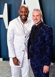 Karamo Brown and Ian Jordan attending the Vanity Fair Oscar Party held at the Wallis Annenberg Center for the Performing Arts in Beverly Hills, Los Angeles, California, USA.