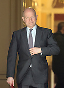 © Licensed to London News Pictures. 18/03/2015. Westminster, UK William Hague, Leader of the House of Commons, leaves Downing Street on the day of the spring budget 2015. Photo credit : Stephen Simpson/LNP