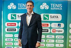 Gregor Krusic during press conference of Tenis Slovenija when presented WTA Portoroz 2021 tournament, on February 18, 2021 in Kristalna palaca, Ljubljana, Slovenia. Photo by Vid Ponikvar / Sportida