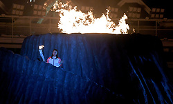 JAKARTA, Aug. 18, 2018  Torchbearer Susi Susanti of Indonesia is seen at the opening ceremony of the 18th Asian Games at Gelora Bung Karno (GBK) Main Stadium in Jakarta, Indonesia, Aug. 18, 2018. (Credit Image: © Yue Yuewei/Xinhua via ZUMA Wire)