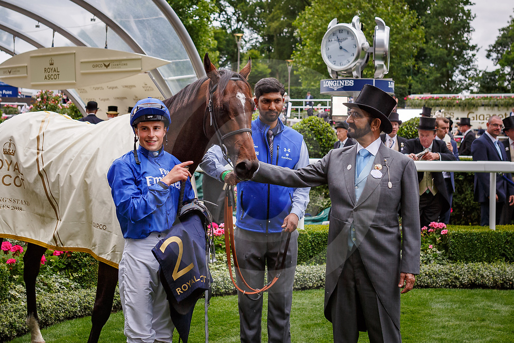 Blue Point (William Buick) wins The King's Stand Stakes Gr.1 at Royal Ascot, 19/06/2018, photo: Zuzanna Lupa