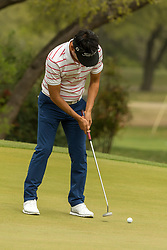 March 23, 2018 - Austin, TX, U.S. - AUSTIN, TX - MARCH 23:  Kevin Na sinks a birdie putt during the WGC-Dell Technologies Match Play Tournament on March 22, 2018, at the Austin Country Club in Austin, TX.  (Photo by David Buono/Icon Sportswire) (Credit Image: © David Buono/Icon SMI via ZUMA Press)