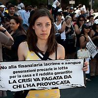 Manifestazione contro la finanziaria