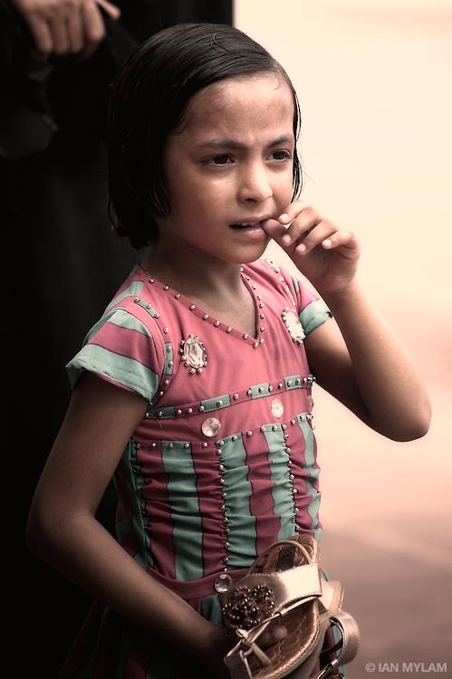 Young Girl, Jama Masjid Mosque - Old Delhi, India