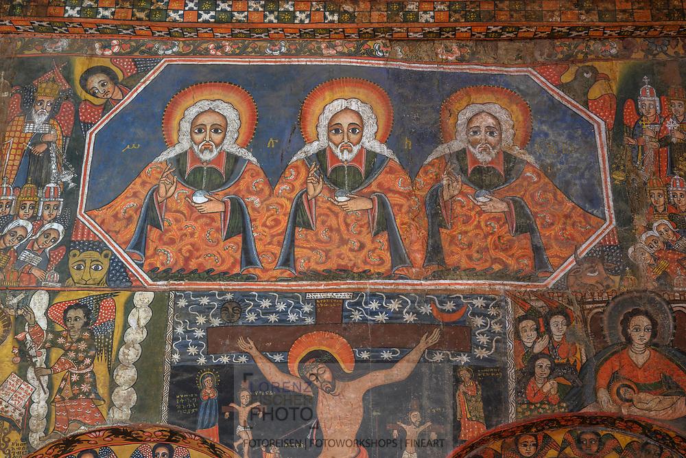 Mural in an old Christian Orthodox church in Gonder, Amhara region, Ethiopia<br /> <br /> Mural in an old Christian Orthodox church in Gonder, Amhara region, Ethiopia