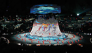 Dancers perform at the Opening Ceremony for the 2010 Winter Olympics at BC Place in Vancouver, Canada on February 12, 2010. (UPI)