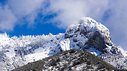 Moro Rock and the Giant Forest after a winter storm, Sequoia National Park, California USA