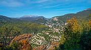 Serpentine road to Papigo in Greece