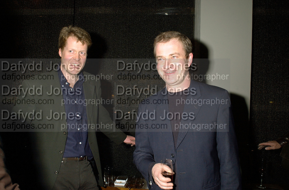 Viscount Althorp and  Harry Enfield. Gilda's Club party. Isola. London. 5/2/01 © Copyright Photograph by Dafydd Jones 66 Stockwell Park Rd. London SW9 0DA Tel 020 7733 0108 www.dafjones.com
