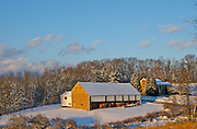 Winter Snow, Berks Co., PA Scene, Countryside Farm in Snow
