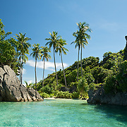 Beautiful bay in a lagoon of Misool area, West-Papua.