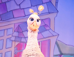 Mother Goose <br /> at the Hackney Empire, London, Great Britain <br /> press photocall<br /> 20th November 2014 <br /> <br /> <br /> Alix Ross as Priscilla (the Goose) <br />  <br /> <br /> <br /> Photograph by Elliott Franks <br /> Image licensed to Elliott Franks Photography Services