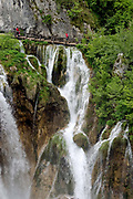 Waterfalls in The famous Plitvice National Park, Croatia. Part of a story on Croatia's hidden landscape and undiscovered tourism.