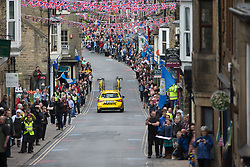 A Mavic neutral support car drives through Pateley Bridge during the Tour de Yorkshire - a 122.5 km road race, between Tadcaster and Harrogate on April 29, 2017, in Yorkshire, United Kingdom.