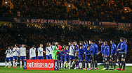 Both teams line up and shake hands during the The FA Cup fourth round match between Chelsea and Sheffield Wednesday at Stamford Bridge, London, England on 27 January 2019.
