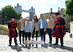 Tom Holland, Jacob Batalon, Zendaya, Jake Gyllenhaal and director Jon Watts attending the Spider-Man: Far From Home Photocall held at the Tower of London.