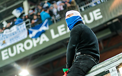 22.02.2018, Red Bull Arena, Salzburg, AUT, UEFA EL, FC Salzburg vs Real Sociedad, Sechzehntelfinale, Rueckspiel, im Bild Real Sociedad Fans // during the UEFA Europa League Round of 32, 2nd Leg Match between FC Salzburg and Real Sociedad at the Red Bull Arena in Salzburg, Austria on 2018/02/22. EXPA Pictures © 2018, PhotoCredit: EXPA/ JFK