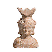 A Roman Terracotta Censer in the form of a bust of Dionysus