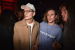 Left to right, Ollie Proudlock, Dougie Poynter and  at the Maybelline New York Bring on The Night party hosted by Adriana Lima & Jourdan Dunn at Scotch of St.James, 13 Masons Yard, England. 18 February 2017.
