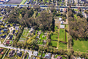 Nederland, Overijssel, Dedemsvaart, 01-05-2013; De Tuinen van Mien Ruys, Nederlands tuinarchitect.<br /> Mien Ruys Gardens.<br /> luchtfoto (toeslag op standard tarieven);<br /> aerial photo (additional fee required);<br /> copyright foto/photo Siebe Swart