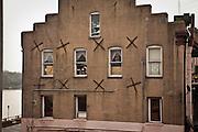 Earthquake bolts on a historic building in Savannah, Georgia, USA.