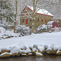 New England winter scenery at the historic Longfellow's Wayside Inn Grist Mill in Sudbury, Massachusetts.<br /> <br /> New England country photography images of the Longfellow's Wayside Inn Grist Mill are available as museum quality photo, canvas, acrylic, wood or metal prints. Wall art prints may be framed and matted to the individual liking and interior design decoration needs:<br /> <br /> https://juergen-roth.pixels.com/featured/longfellows-wayside-inn-grist-mill-juergen-roth.html<br /> <br /> Good light and happy photo making!<br /> <br /> My best,<br /> <br /> Juergen