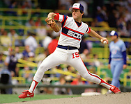 CHICAGO - 1986:  Floyd Bannister of the Chicago White Sox pitches during an MLB game at Comiskey Park in Chicago, Illinois during the 1986 season. (Photo by Ron Vesely)  Subject:   Floyd Bannister