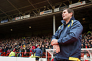 Burton Albion manager Nigel Clough during the EFL Sky Bet Championship match between Nottingham Forest and Burton Albion at the City Ground, Nottingham, England on 21 October 2017. Photo by Richard Holmes.