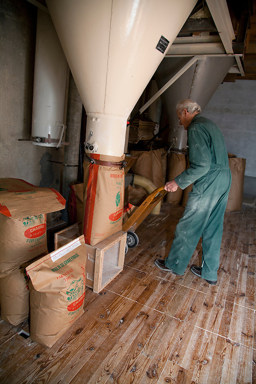 Old traditional flour mill warehouse in PRN the Livradois-Forez, St. Dier d'Auvergne, Auvergne, France