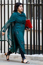 © Licensed to London News Pictures. 01/07/2014. LONDON, UK. Baroness Warsi attending to a cabinet meeting in Downing Street on Tuesday, 1 July 2014. Photo credit: Tolga Akmen/LNP